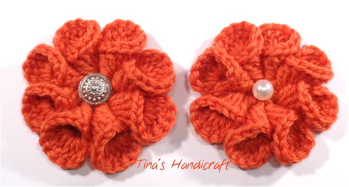 crocheted 3D flower | the crochet space