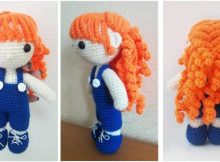 curly-haired Julie amigurumi doll | the crochet space