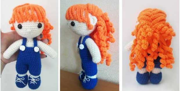 Amigurumi Curly Doll : Curly haired julie amigurumi doll free crochet pattern