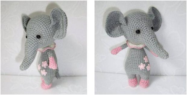 cute crocheted baby elephant | the crochet space