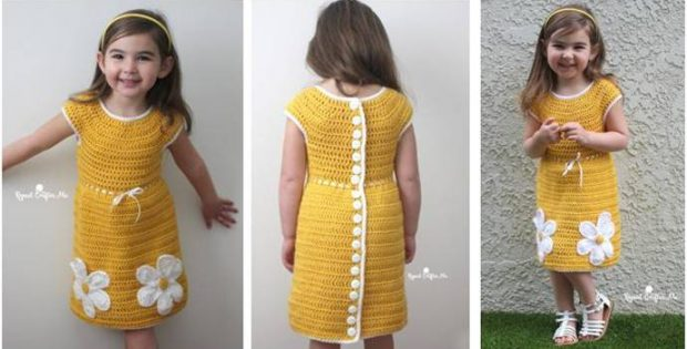 cute crocheted daisy dress | the crochet space