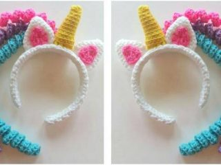 delightful crocheted unicorn headband | the crochet space