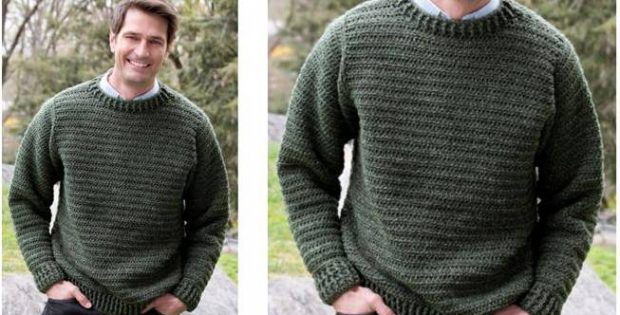 cozy crocheted father pullover | the crochet space