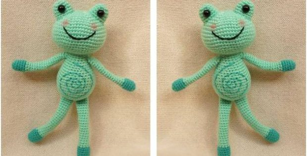 funny croc crocheted frog | the crochet space