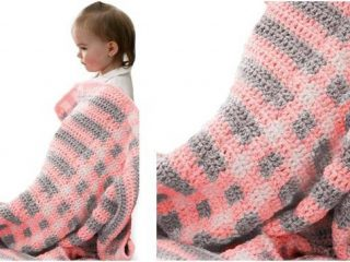 squared crocheted baby blanket   the crochet space