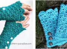 gorgeous crocheted glamour gloves | the crochet space