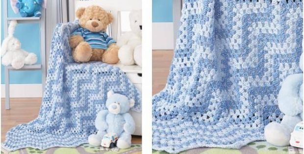 granny waves crocheted blanket | the crochet space