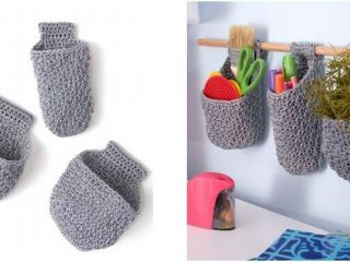 handy crocheted hanging baskets | the crochet space