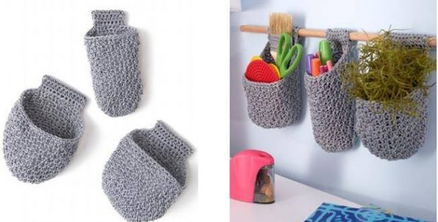 handy crocheted hanging baskets   the crochet space