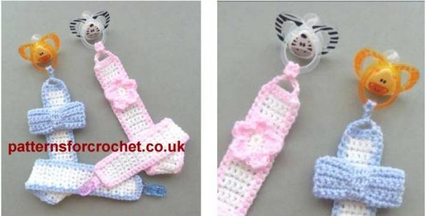 lovely crocheted baby pacifier | the crochet space