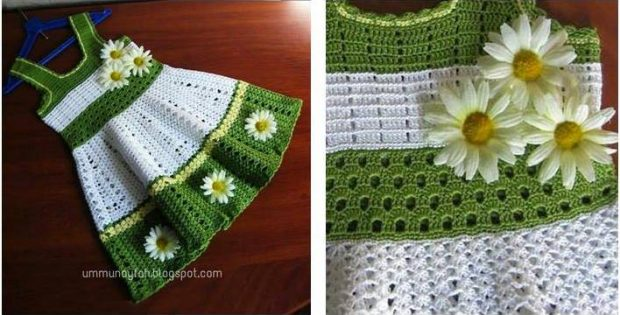 Lovely Crocheted Toddler Dress Free Crochet Pattern