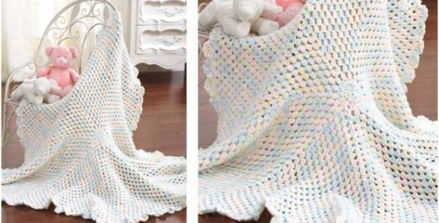 lovely crocheted round blanket | the crochet space