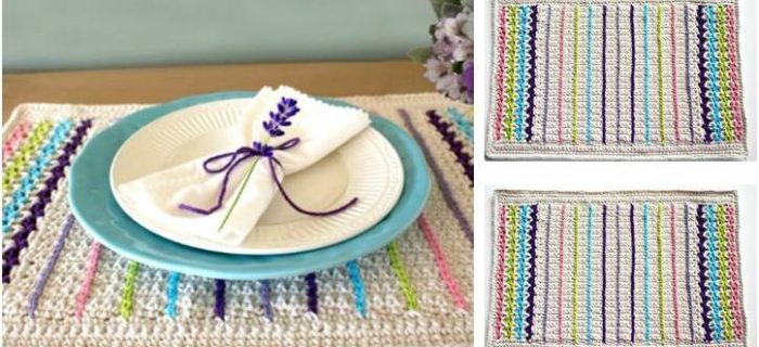 lovely crocheted spring placemat | the crochet space