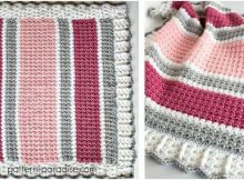 pretty crocheted baby blanket | the crochet space