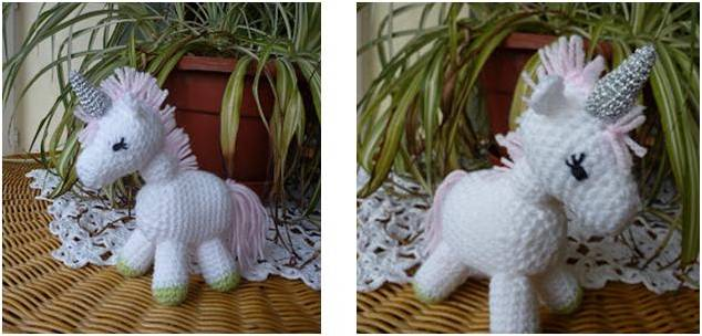 sparkly charley crocheted unicorn | the crochet space
