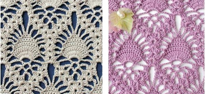 stunning crocheted lace pineapple stitch | the crochet space