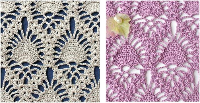 Stunning Crocheted Lace Pineapple Stitch Free Crochet Pattern