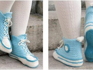 ultra comfy crocheted slippers | the crochet space