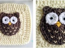 woodland owl crocheted granny square | the crochet space