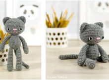 cute long-legged crochet cat | the crochet space