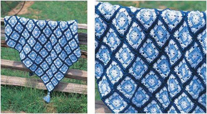 Easy Crocheted Granny Square Throw Free Crochet Pattern