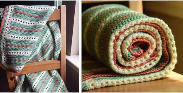 elegant squares crocheted baby blanket | the crochet space