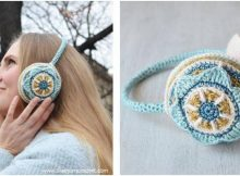 floral crocheted ear muffs | the crochet space