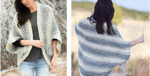 light frost crocheted blanket sweater | the crochet space