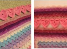lovely crocheted hearts edging   the crochet space
