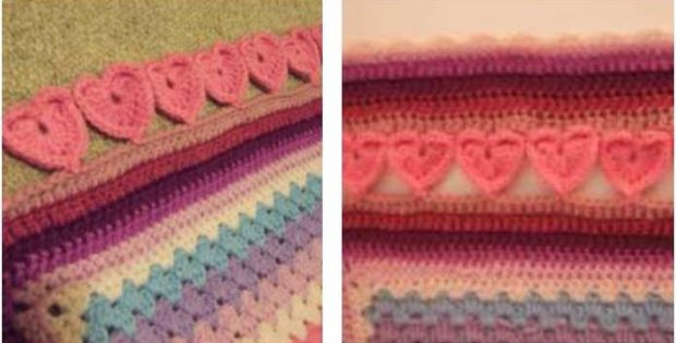 lovely crocheted hearts edging | the crochet space