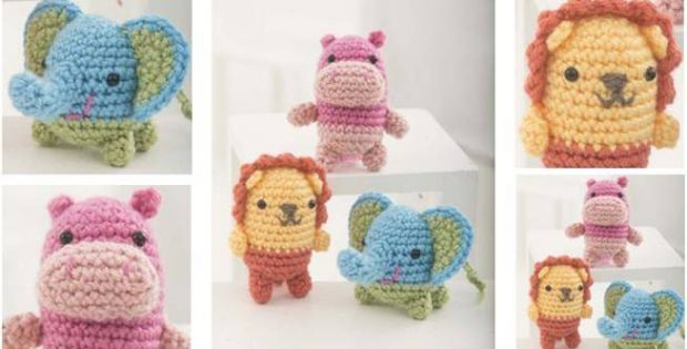 super cute crocheted critter trio | the crochet space