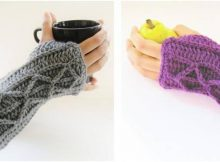 Adeline crocheted fingerless mitts | the crochet space