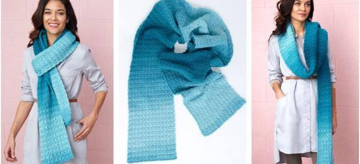 Cici's ombre crocheted super scarf | the crochet space