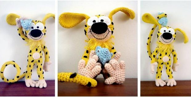Marsupilami crocheted toy | the crochet space