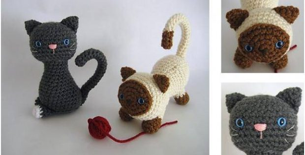 adorable crocheted kittens | the crochet space