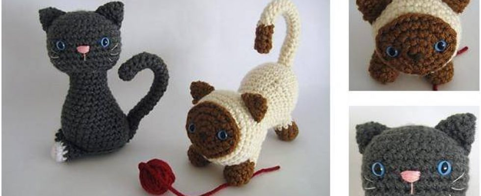 Adorable Crocheted Kittens [FREE Crochet Pattern]