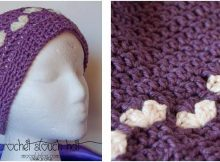 hearts crocheted slouch hat | the crochet space