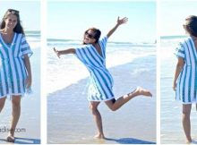 beach day crocheted tunic | the crochet space