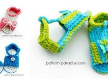 blingy crochet baby sandals | the crochet space