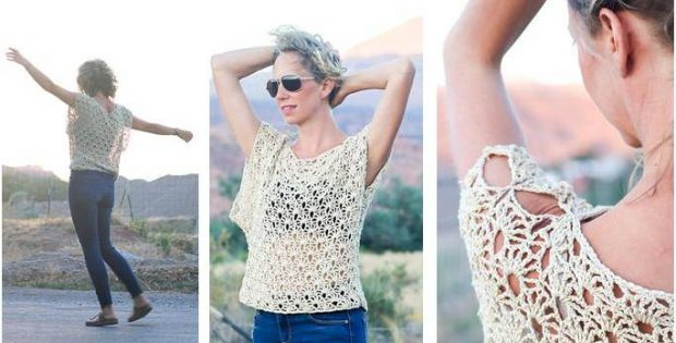 canyonlands boho crocheted top | the crochet space
