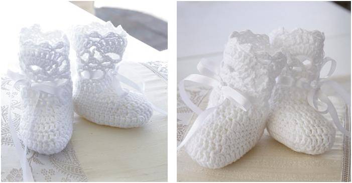 Charming Crocheted Baby Socks Free Crochet Pattern