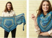classy pentagon crocheted shawl | the crochet space