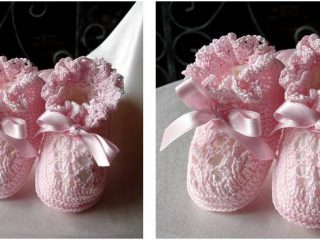 dainty crocheted baby booties | the crochet space