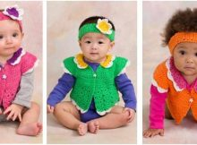 flower petal baby set | the crochet space