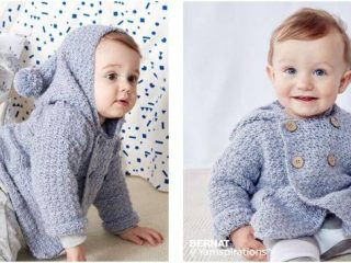 groovy crocheted baby hoodie | the crochet space