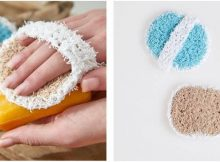 handy palm crocheted scrubby | the crochet space