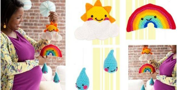 happy day crocheted mobile | the crochet space