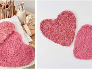 lovely hearts crocheted scrubby | the crochet space