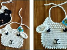 little lamb crocheted baby bib | the crochet space