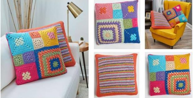 Patched Persuasion Crochet Pillows Free Crochet Pattern